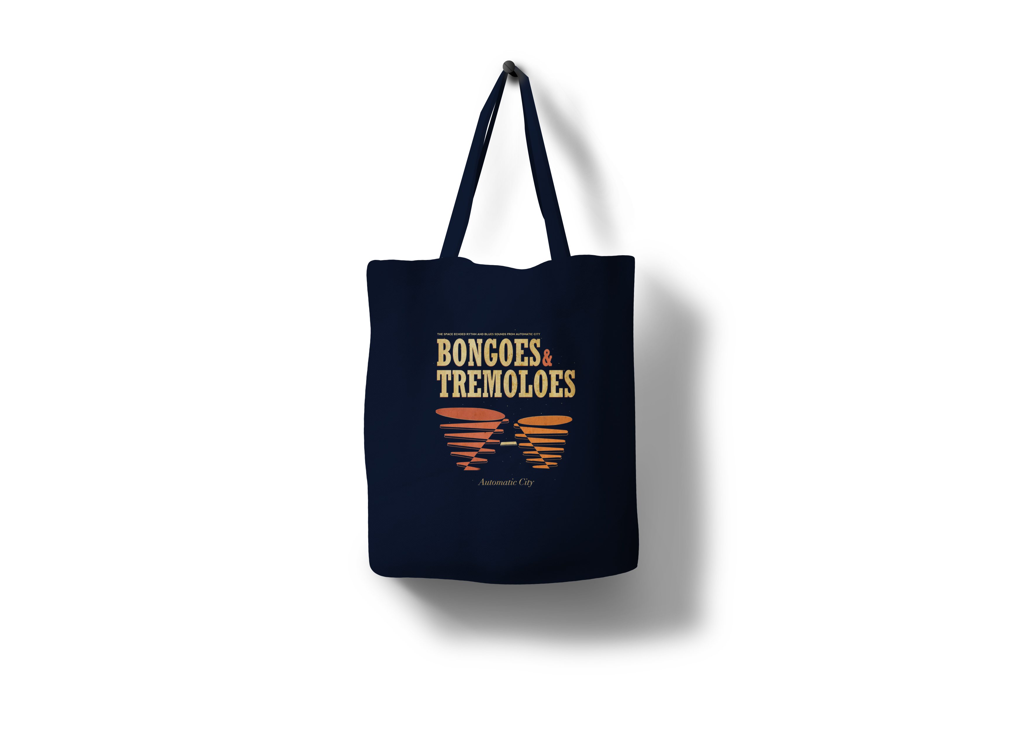 Automatic city bongoes and Tremoloes Tote Bag