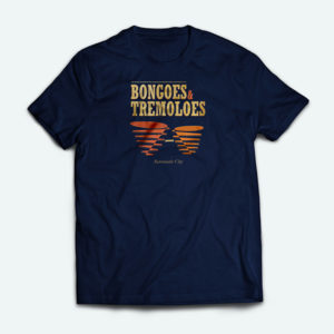 Automatic City T Shirt Bongoes and Tremoloes Deep Navy Blue